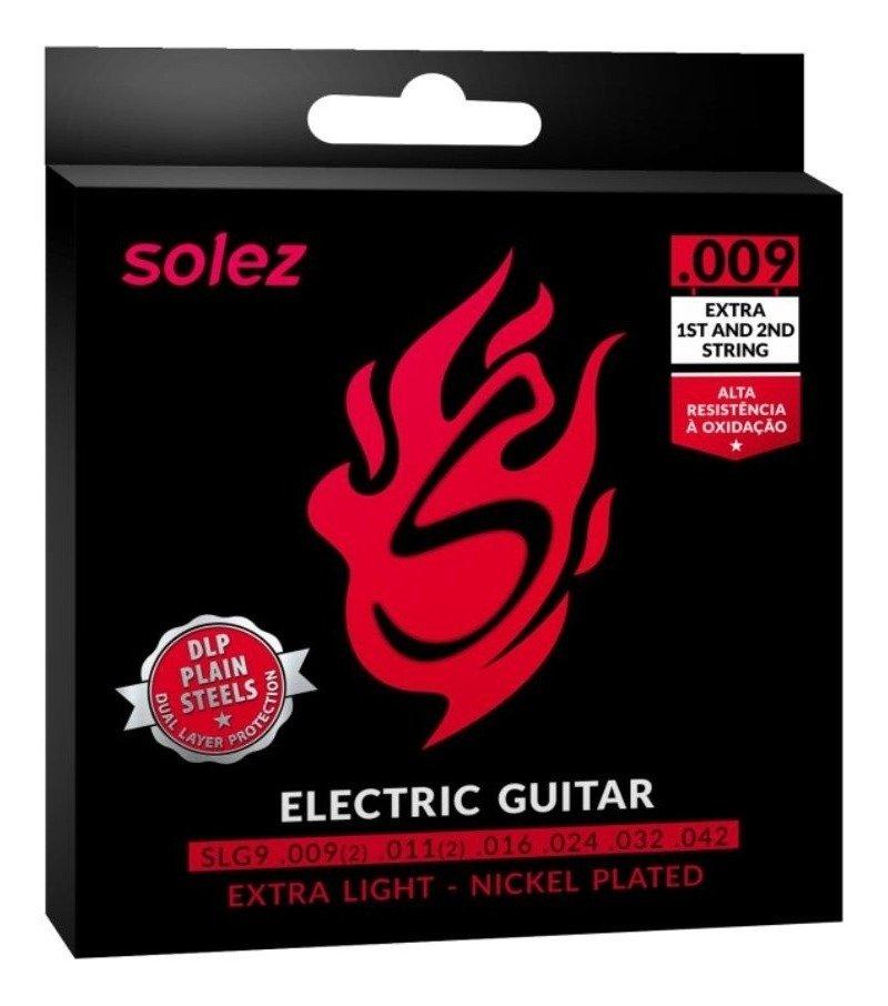 Encordoamento Solez Para Guitarra Extra Light  0.9