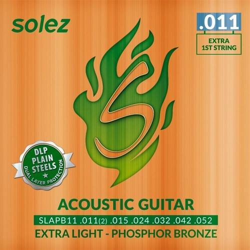 Encordoamento Solez Violão Aço .011 Phosphor Bronze