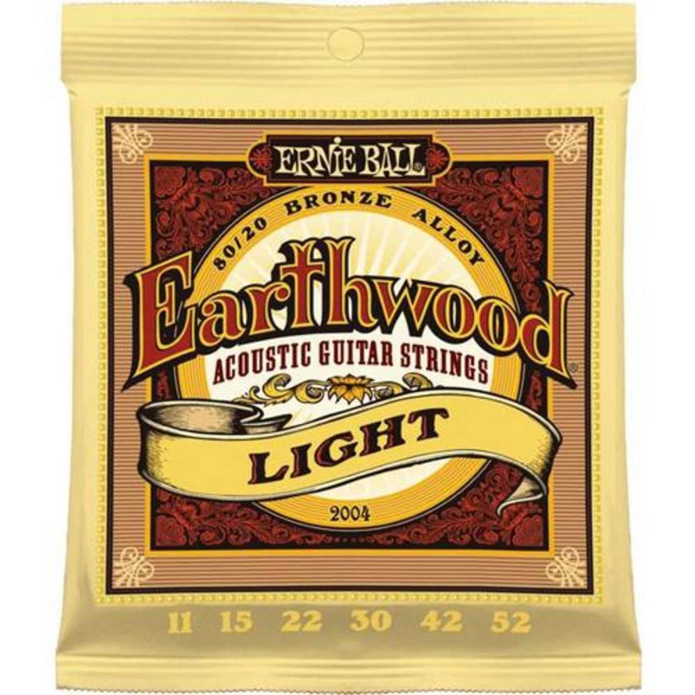 Encordoamento Violão Aço Ernie Ball Earthwood 80/20 Bronze Light .011/.52