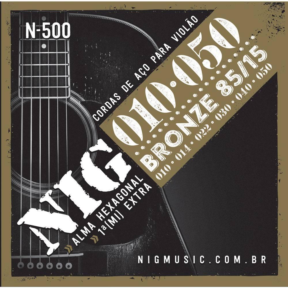 Encordoamento Violão  Nig N500 Aco/bronze .010/.050-6