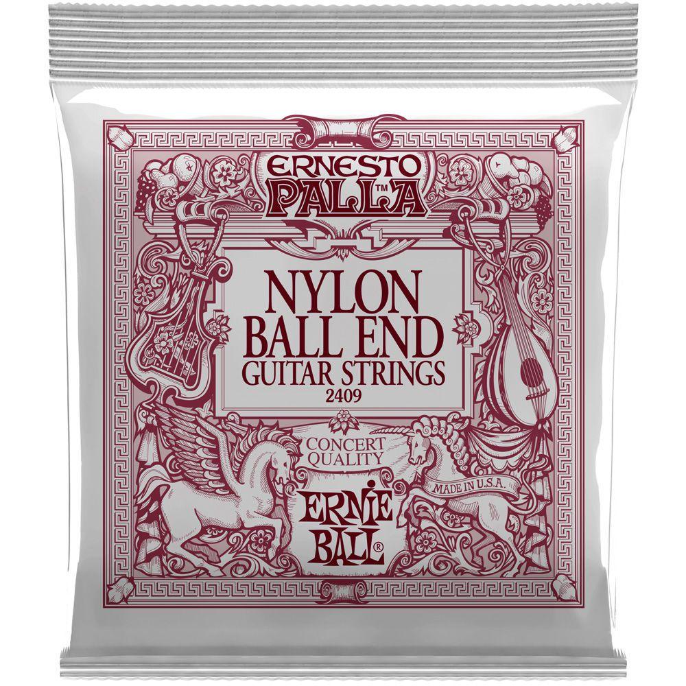 Encordoamento Violão Nylon Ernie Ball Ernesto Palla Classical 2409 Dourado / Preto - Ball End