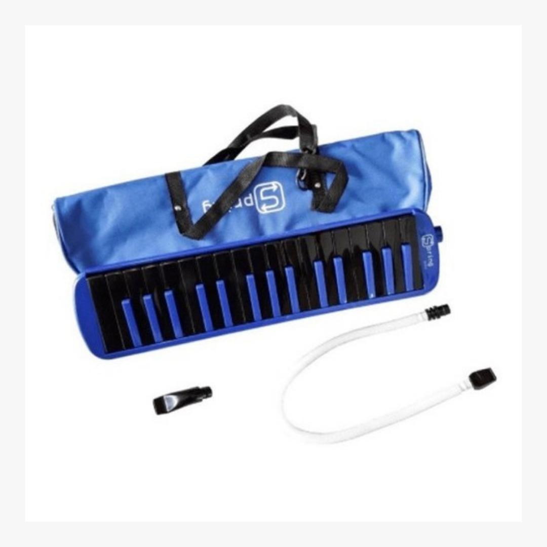 Escaleta Spring 32 Sg32 Teclas Azul Teclas Pretas c/ Bag