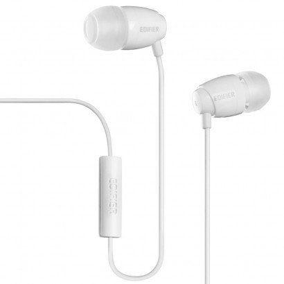 Fone De Ouvido Edifier P210 - Intra-auricular - Com Microfone - Branco