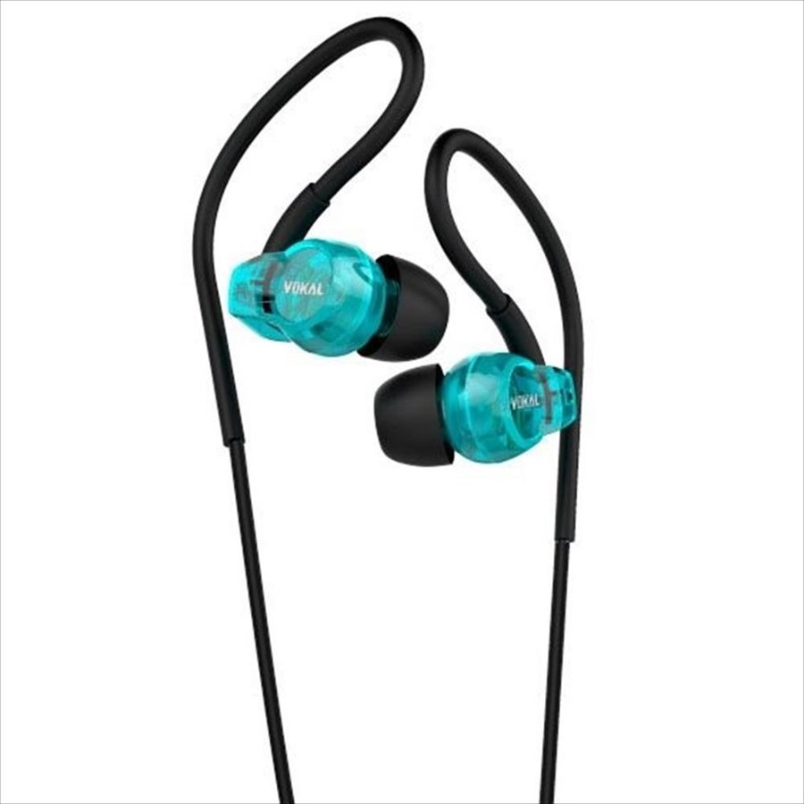 Fone de Ouvido Vokal E20 Dynamic Sound In Ear - Azul