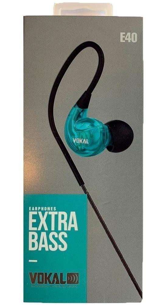 Fone In Ear Vokal E40 Extra Bass- Azul