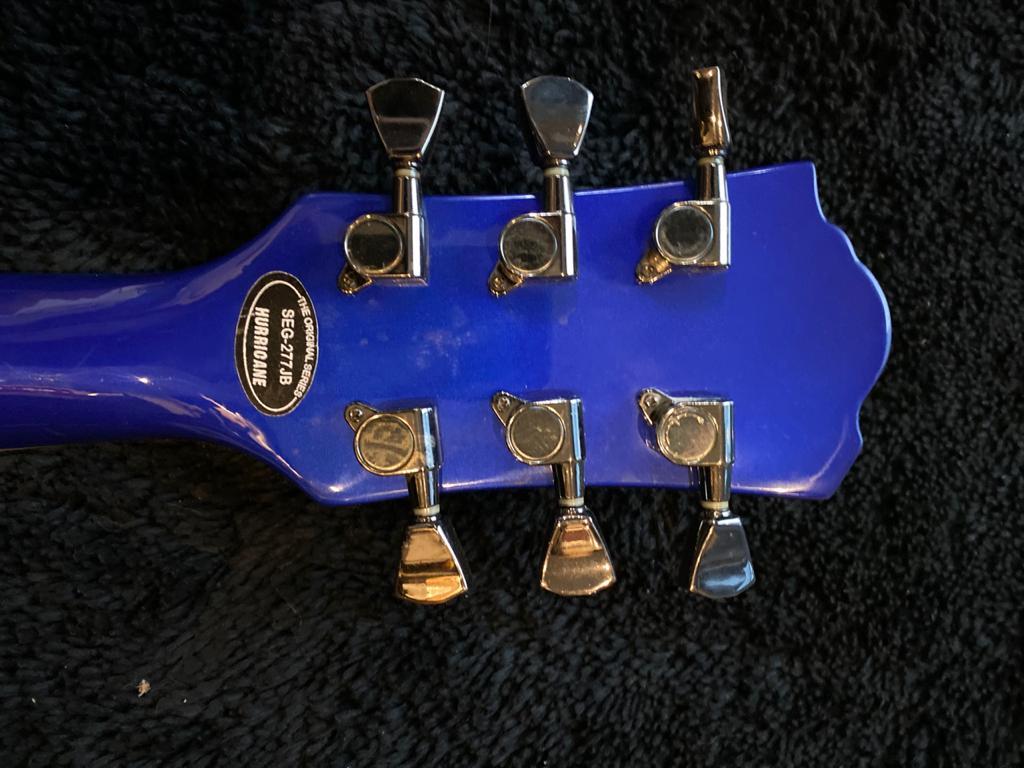 Guitarra Hurricane Les Paul Seg-277 Jb Azul