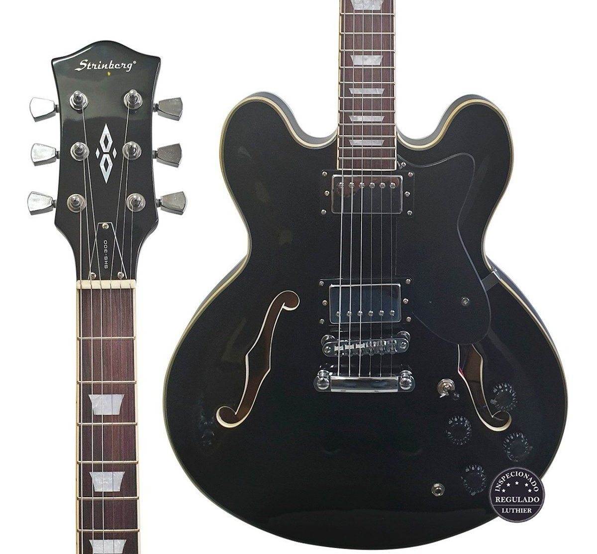 Guitarra Semi-Acústica Strinberg SHS300 BK
