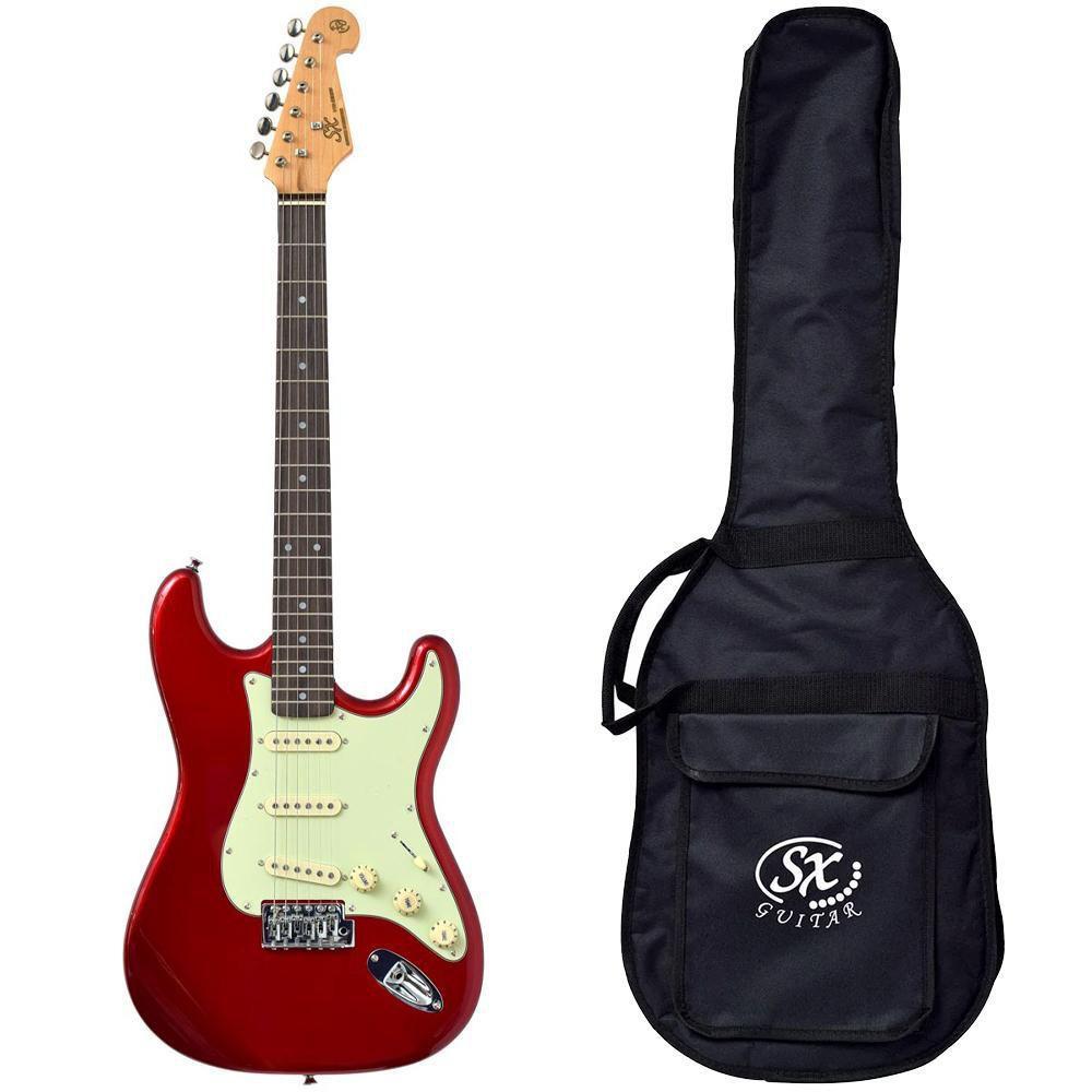 Guitarra Stratocaster SX SST62 Car Vermelho Vintage com Bag