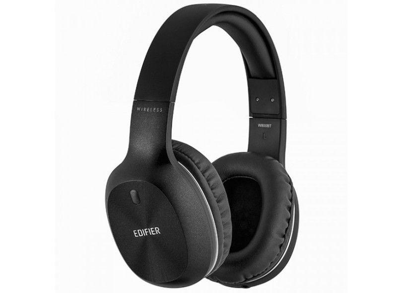 Headphone Bluetooth Edifier W800BT - com Microfone embutido e Conexão P2 - Preto