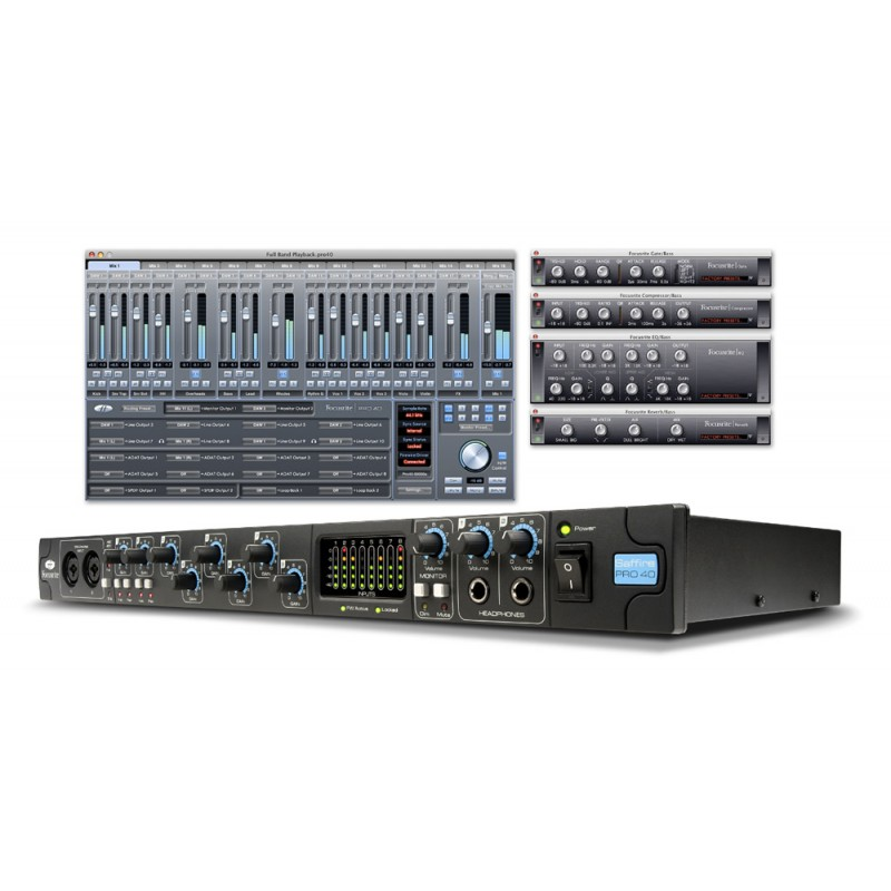 INTERFACE DE ÁUDIO FIREWIRE SAFFIRE PRO-40 - FOCUSRITE