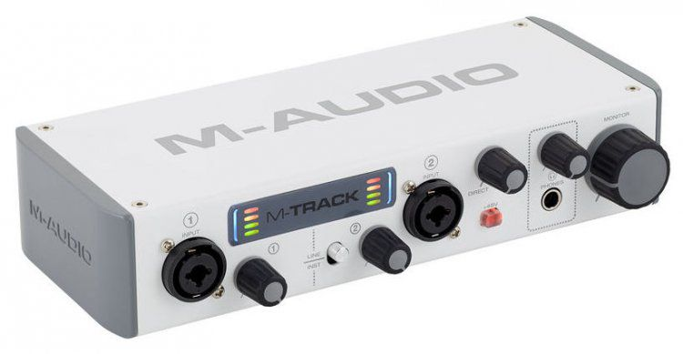Interface de Áudio M-Track II - M-Audio
