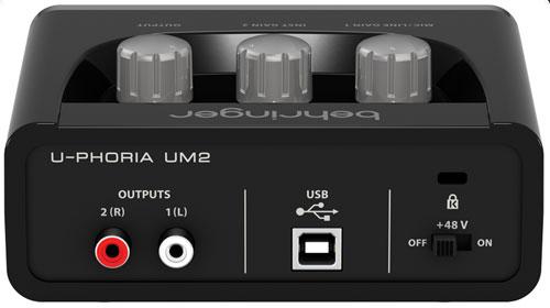 Interface De Áudio U-phoria UM 2 - Behringer