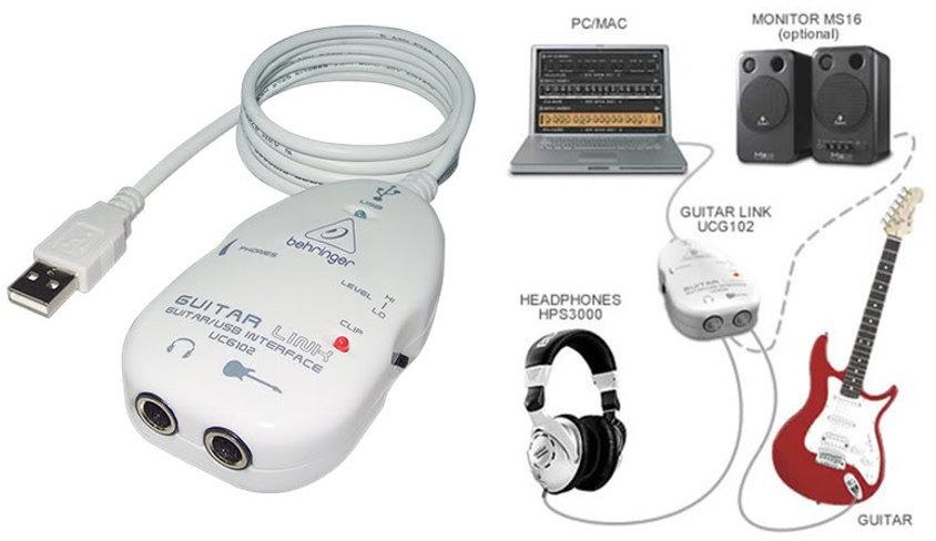 Interface para gravação de Guitarra UCG 102 - Behringer