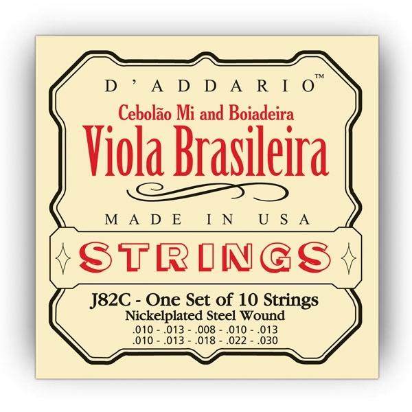 Encordoamento Daddario Viola Brasileira EJ 82 C