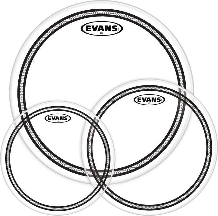 """KIT DE PELE EVANS EC2S CLEAR ROCK 10"""", 12"""", 16"""" ETP-EC2SCLR-R"""