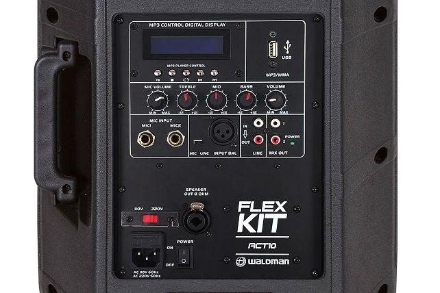 Kit Flex Waldman Caixa Ativa/Passiva mais 2 Tripés e mais Cabos de Ligação