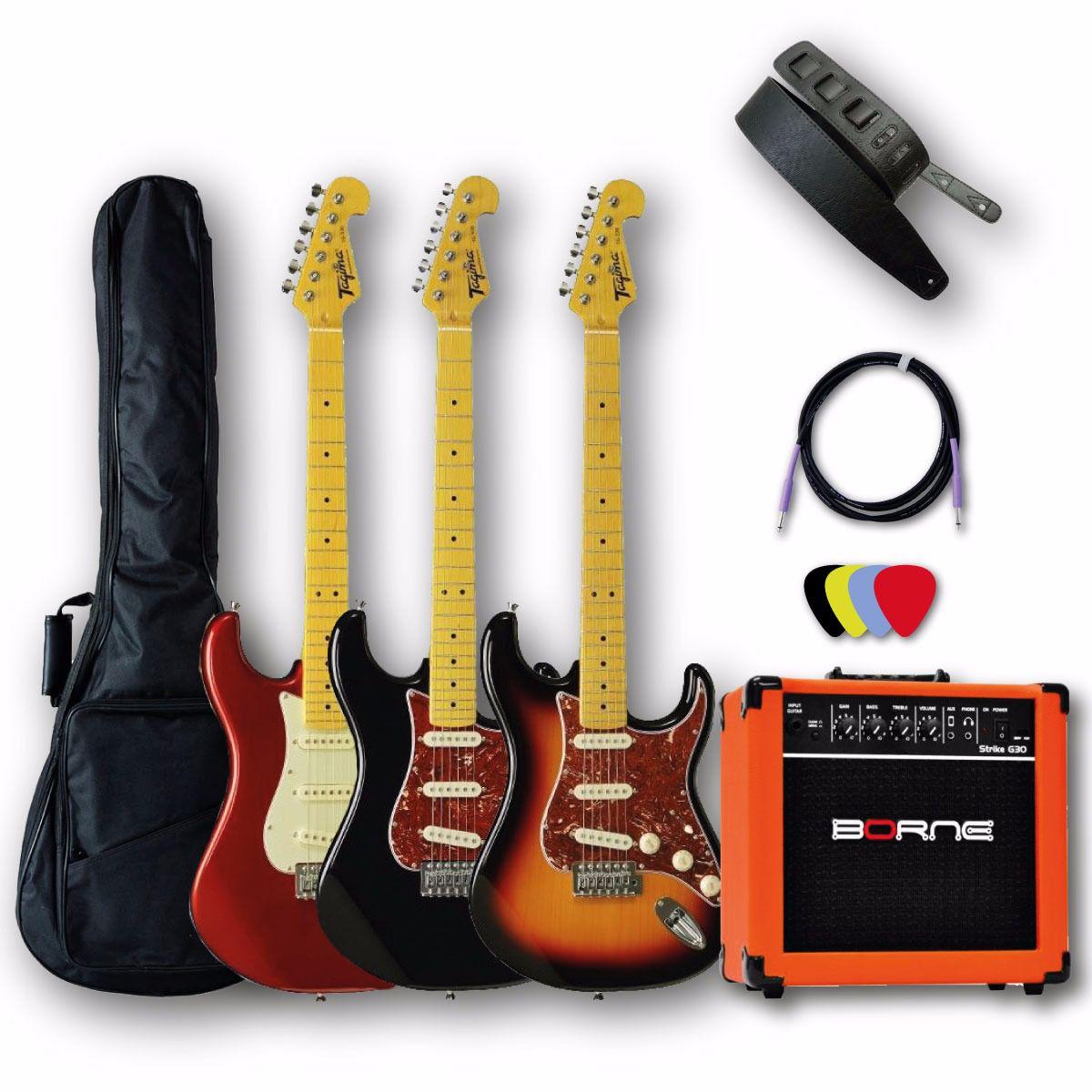 Kit Guitarra+Amplificador+Capa+Correia+Palhetas.