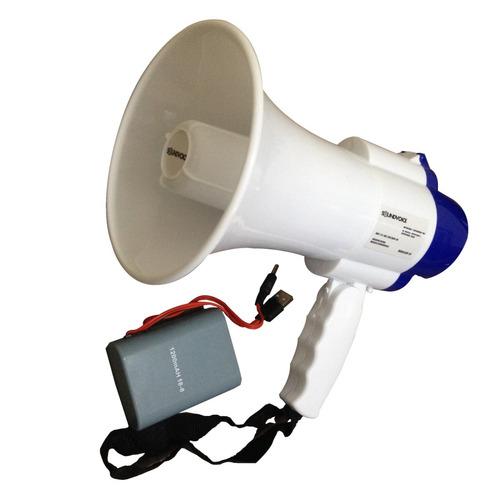 Megafone Soundvoice MF-20 Com Sirene E Bateria Recarregável