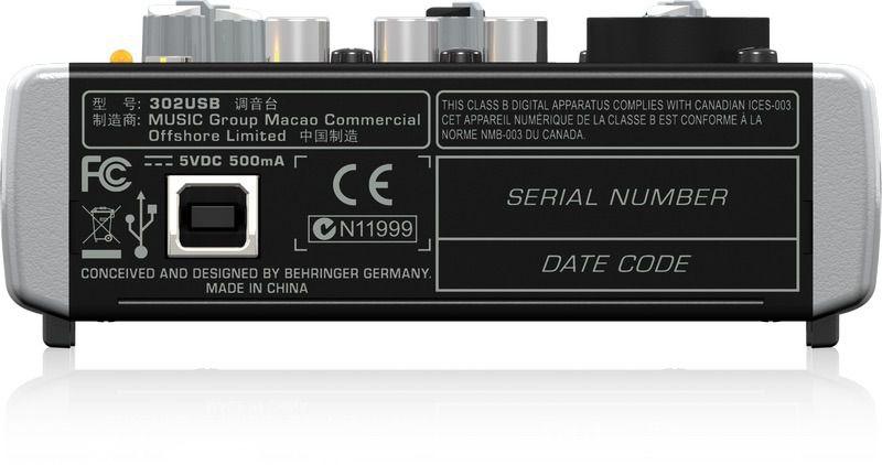 Mesa De Som Analógica USB XENYX-302 USB - Behringer