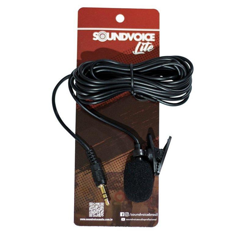 Microfone de Lapela Soundvoice-200 para celular e notebook plug p2