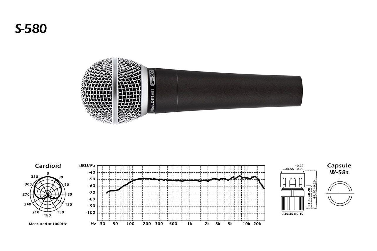 Microfone Dinâmico Waldman S580