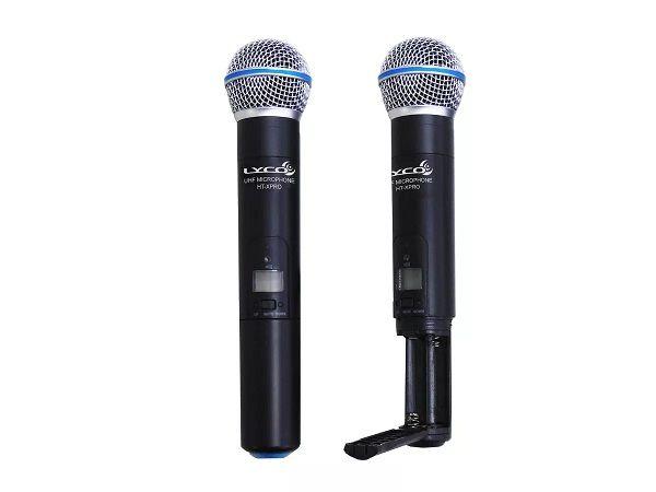 Microfone Lyco Duplo de Mão Sem Fio UHXPRO02MM