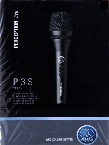 Microfone Dinâmico AKG P3S Perception Vocal e Instrumental