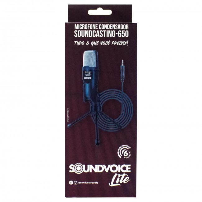 Microfone Soundvoice Condensador Soundcasting 650 Lite