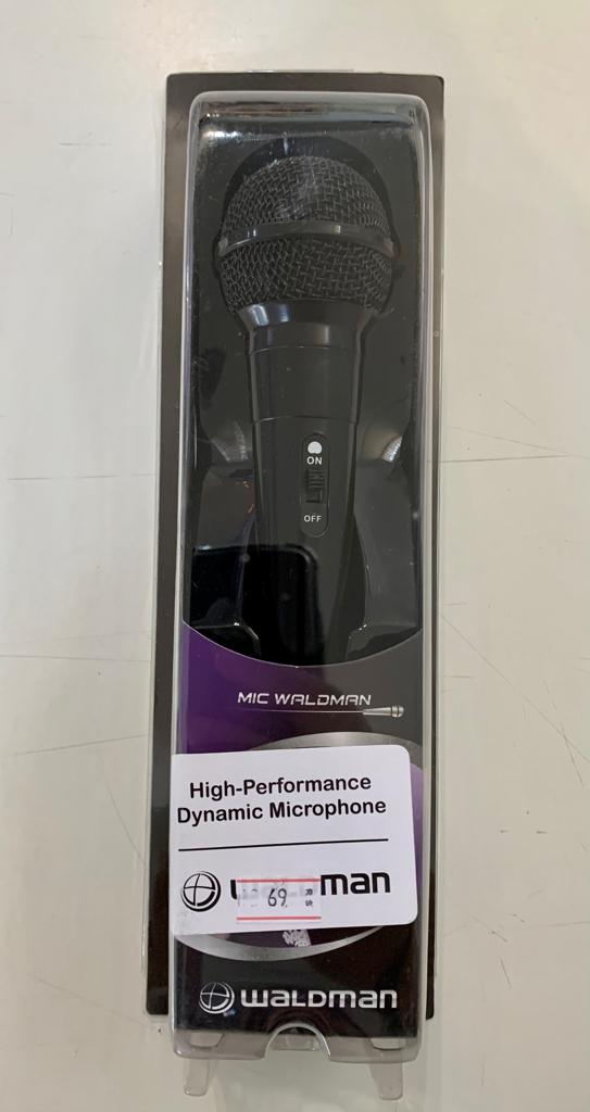 Microfone Waldman High Performance Dynamic Cardioide ATM-10 Preto