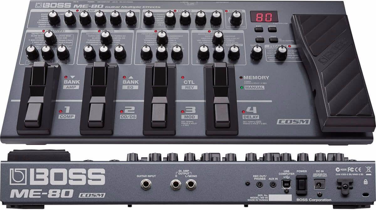 Pedaleira para Guitarra Boss Me-80