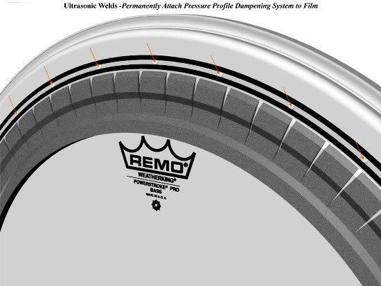"Pele Remo para Bumbo 22"" Powerstroke Pro Porosa Pr-1122-00"