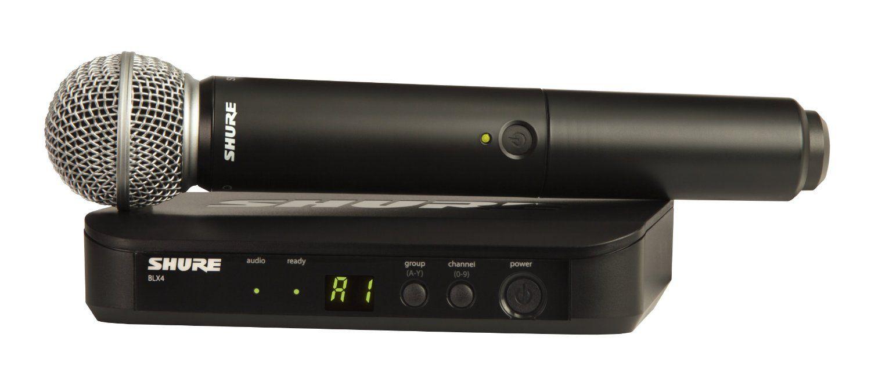 Sistema Microfone Sem Fio Blx-24br/pg58-j10 De Mão - Shure