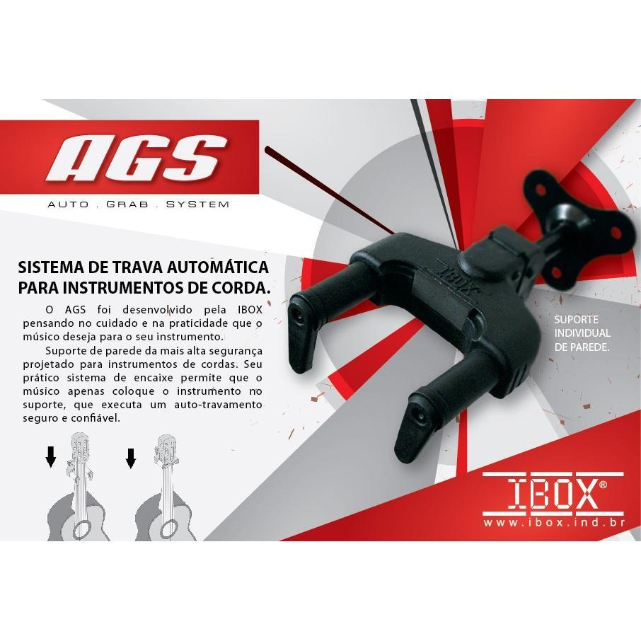 Suporte De Parede Ibox Ags C/ Trava Para Instrumentos Cordas