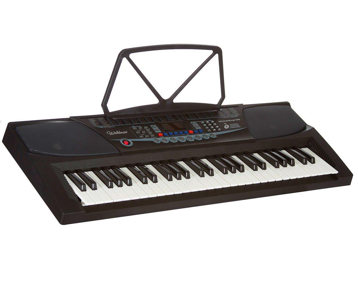 Teclado Musical Uk540 Waldman 54 Teclas - Microfone Suporte Partitura  Fonte Bivolt