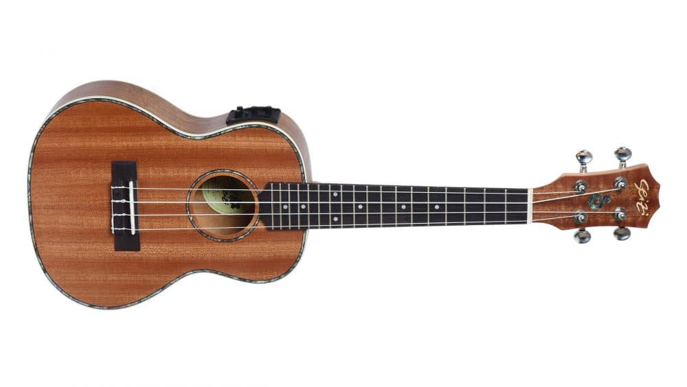 Ukulele Seizi Maui Plus Concert Elétrico Bag Sapele
