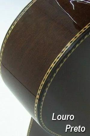 Viola Elétrica Presença Brasil Classica Ativa Rozini 4B com Afinador Digital Natural Louro Preto RV115AT-LP