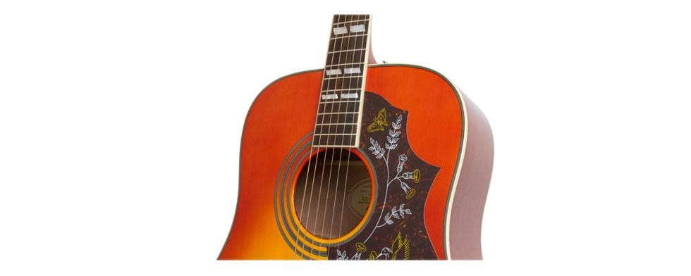 Violão Elétrico Aço Epiphone Hummingbird Pro Faded Cherry