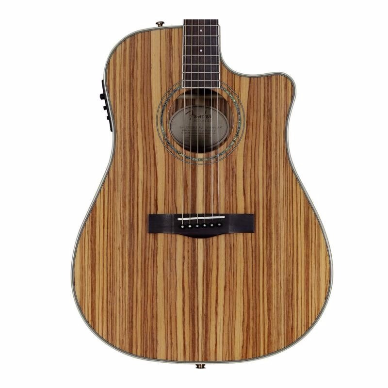 VIOLAO FENDER DREADNOUGHT CD220 CE 021 ALL ZEBRANO