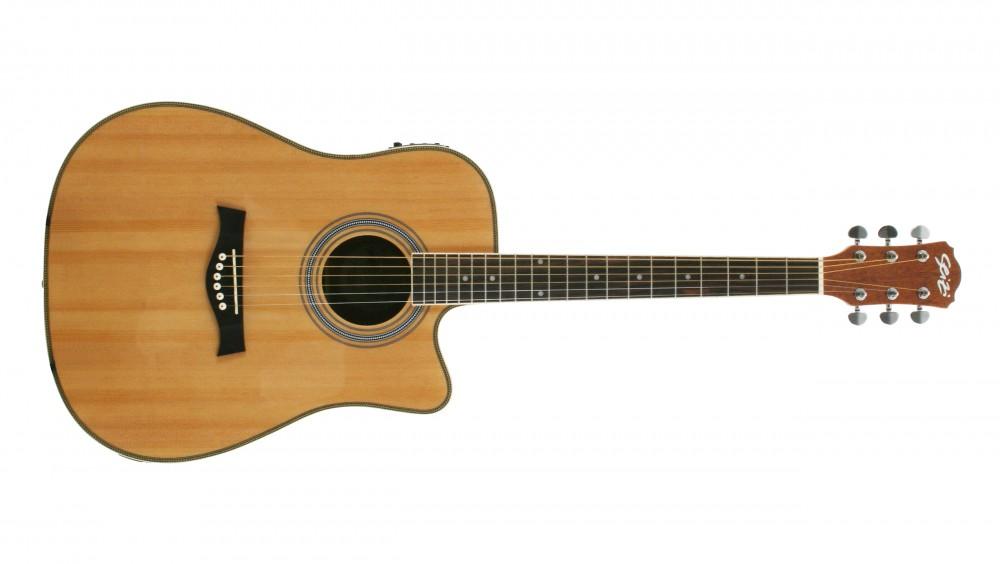 Violão folk Elétrico Seizi Tennessee Natural Satin c/Bag