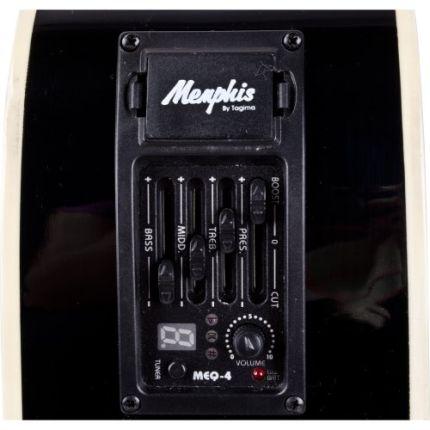 Violão Memphis Eletrico MD18 BK Com Afinador.