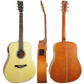 Violão Tagima Woodstock TW25 Folk Aço Elétrico - Natural Fosco