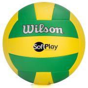 Bola de Vôlei Soft Play (Verde e Amarelo) - Wilson