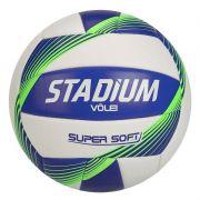 Bola de Vôlei Super Soft Branca e Azul - Stadium