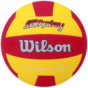 Bola de Vôlei Super Soft Play Amarelo/Vermelho - Wilson
