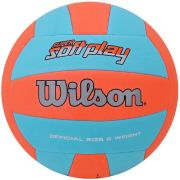 Bola de Vôlei Super Soft Play Celeste/Laranja - Wilson