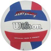 Bola de Vôlei Super Soft Play Azul/Vermelho - Wilson