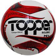 Bola Futebol de Campo Boleiro Branco/Vermelho 2019 - Topper