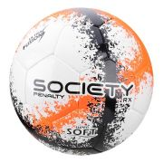 Bola Futebol Society Penalty Rx R3 Fusion VIII Laranja e Preto