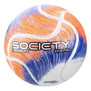 Bola Society Penalty Digital VIII Branco e Laranja