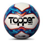 Bola Topper Samba TD1 Campo Branca e Azul